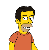 Eric as a Simpsons character